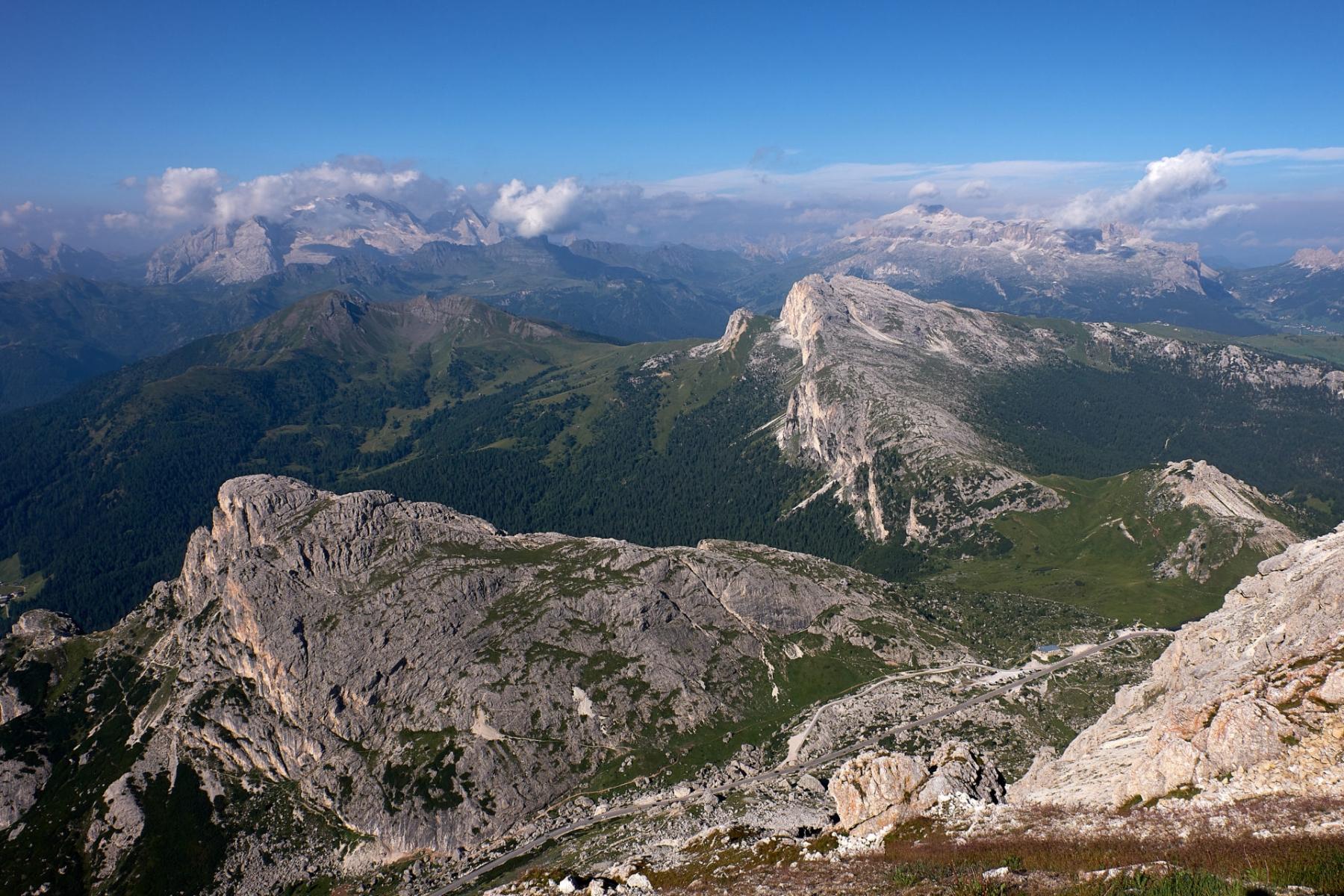 Panoramic over Valparola Pass