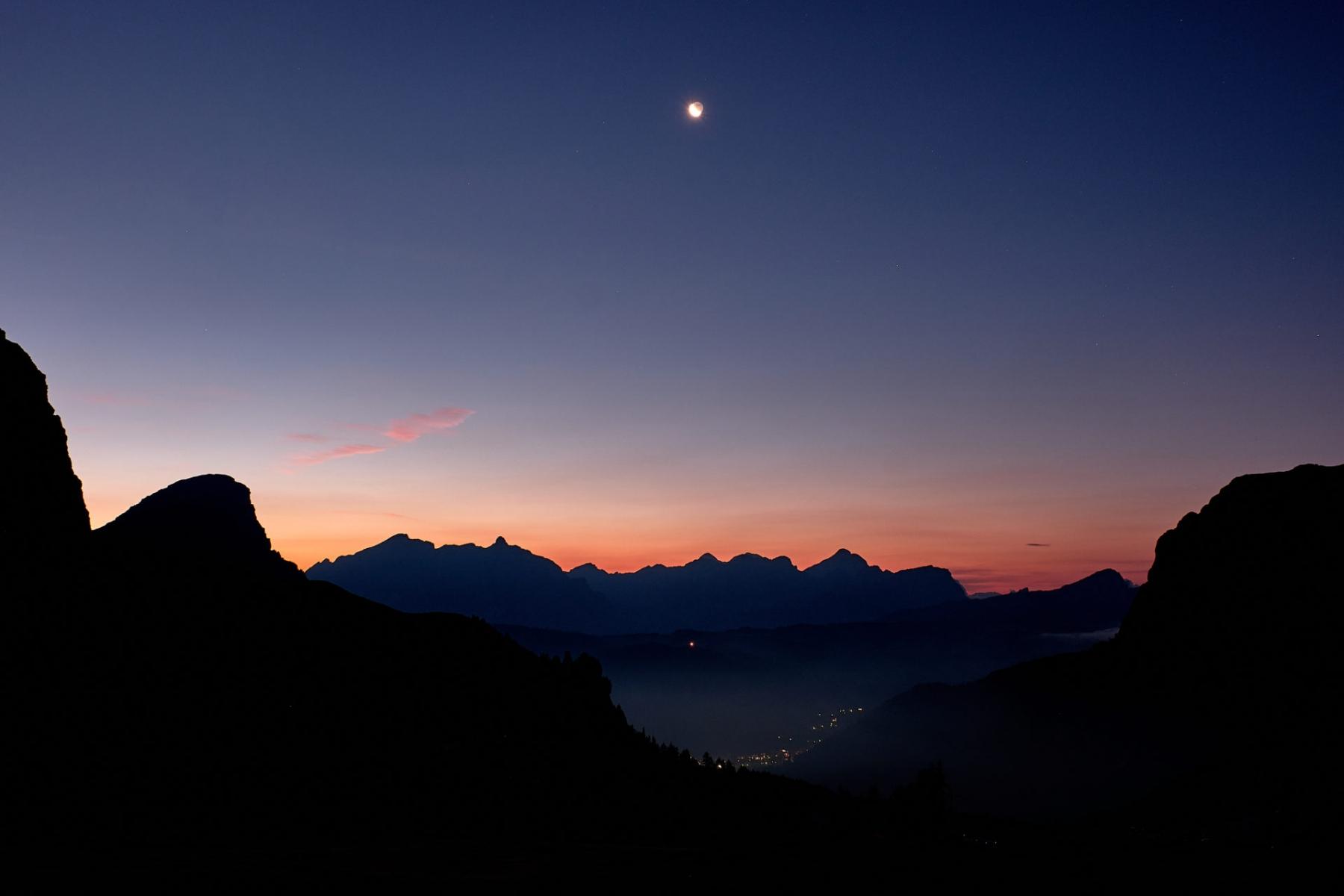 Dawn at Gardena Pass